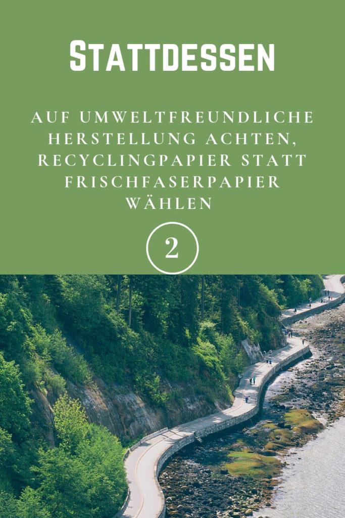 umweltfreundliche Papierherstellung